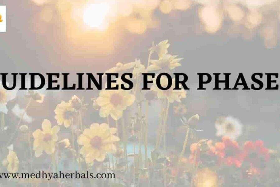Ayurvedic Health Plan Guidelines for Phase 1 – Remove and Cleanse