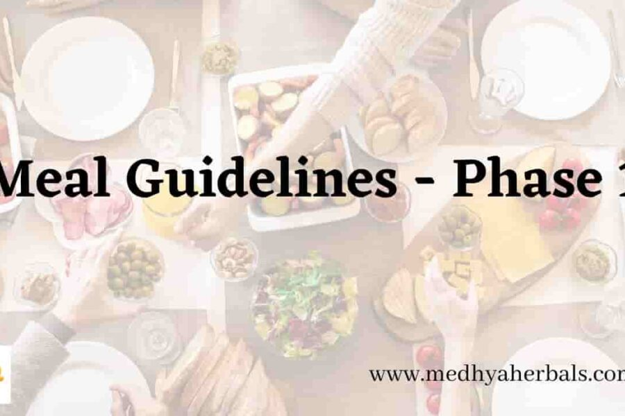 Meal Guidelines for Phase 1 – Cleanse and Remove