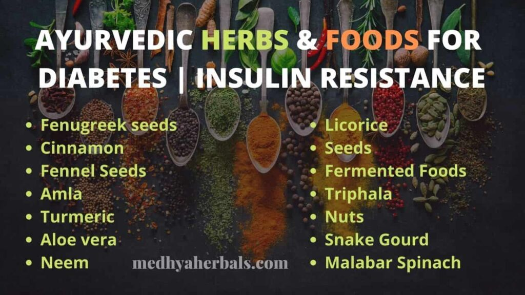 Foods and Ayurvedic Herbs for Insulin Resistance Diabetes-min
