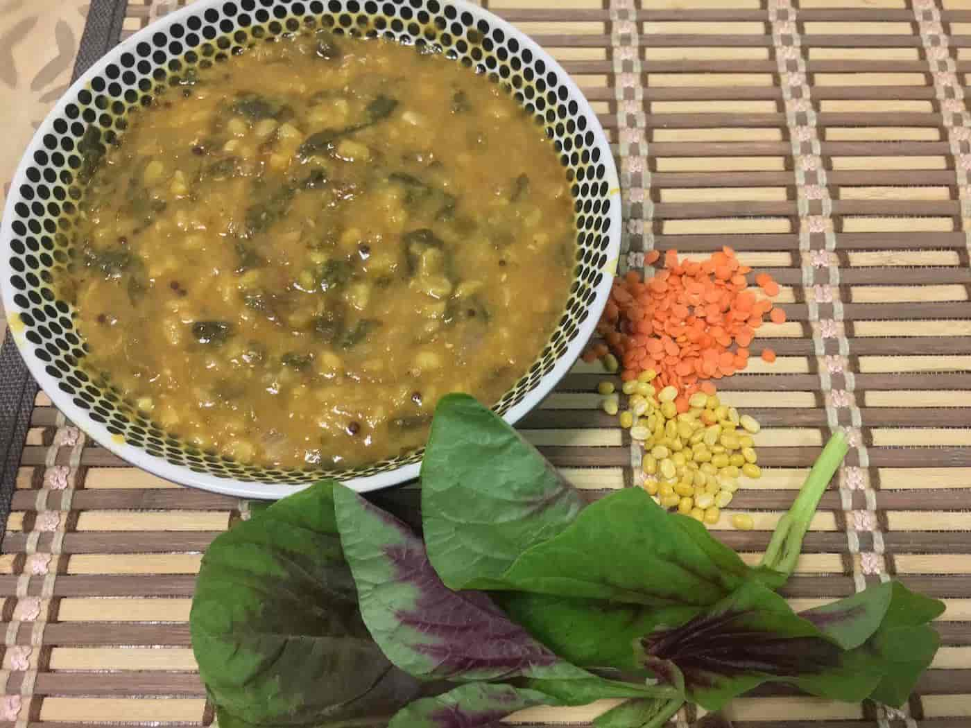 Red Amaranth and Lentils Soup – Iron Rich Foods