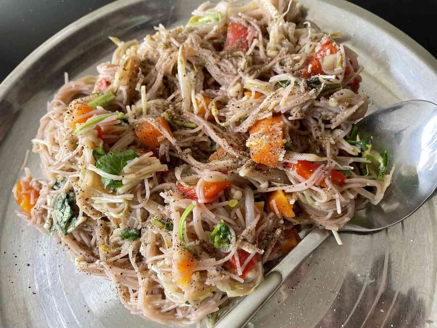 Vegetable Rice Vermicelli | Indian style Breakfast Recipe